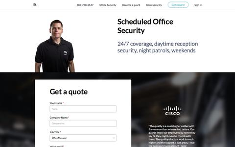 Screenshot of bannerman.com - Security Guard Services - Bannerman - captured May 17, 2016