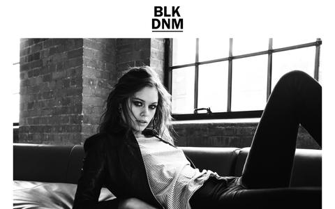 Screenshot of Home Page blkdnm.com - BLK DNM - captured May 28, 2018