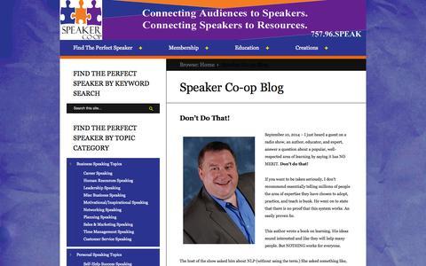 Screenshot of Blog speakercoop.com - Speaker Co-op Blog - captured Nov. 4, 2014