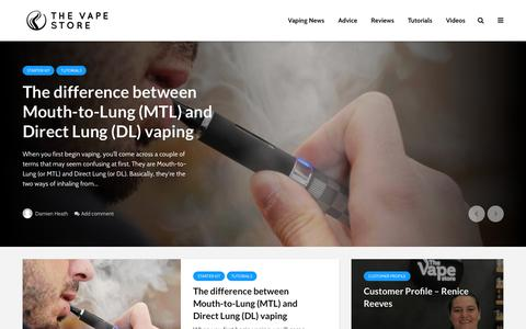 Screenshot of Blog thevapestore.com.au - The Vape Store Blog – The official blog for The Vape Store - captured Feb. 24, 2018