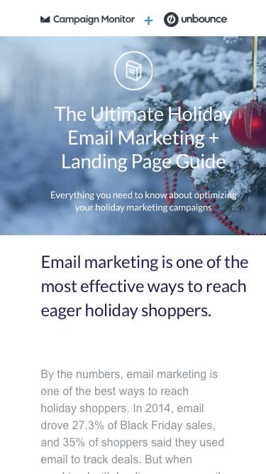 The Ultimate Holiday Email Marketing + Landing Page Guide