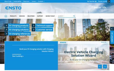 Screenshot of Services Page ensto.com - Electric Vehicle Charging Services - Ensto - captured Dec. 8, 2017