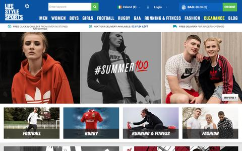 Screenshot of Login Page lifestylesports.com - Life Style Sports | Nike, Adidas, Under Armour - captured May 18, 2017