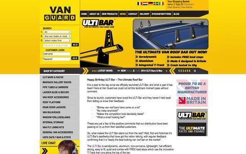 Screenshot of Press Page van-guard.co.uk - News   Van Guard - captured Oct. 27, 2014