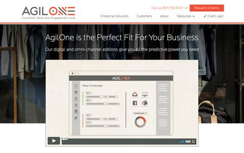 Screenshot of Pricing Page agilone.com - AgilOne Editions - AgilOne   Customer Data and Engagement Hub - captured April 21, 2017