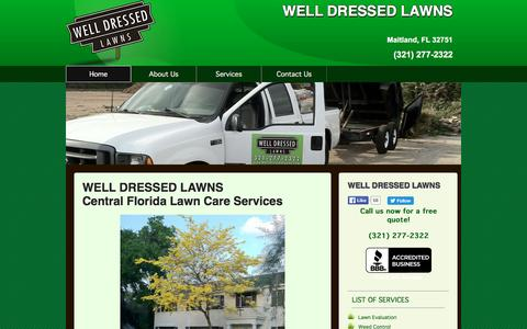 Screenshot of Home Page welldressedlawns.com - WELL DRESSED LAWNS Maitland Lawn Care - captured Jan. 10, 2016