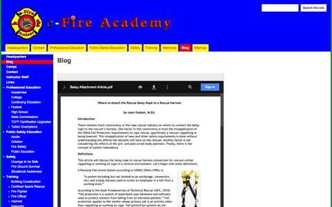 Screenshot of Blog efireacademy.com - Blog - e-Fire Academy - captured Oct. 28, 2014