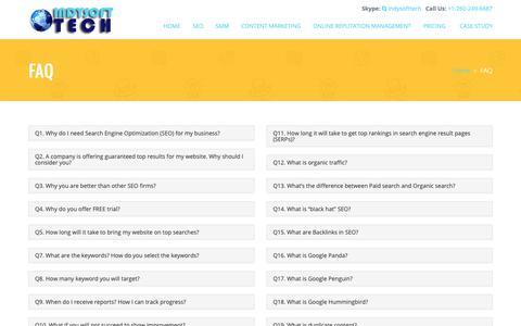Screenshot of FAQ Page indysofttech.com - FAQ – Indy Soft Tech - captured Oct. 11, 2018