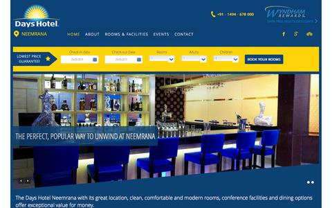 Screenshot of Home Page dayshotelneemrana.com - Days Hotel Neemrana | Days Hotel Neemrana - captured Sept. 30, 2014