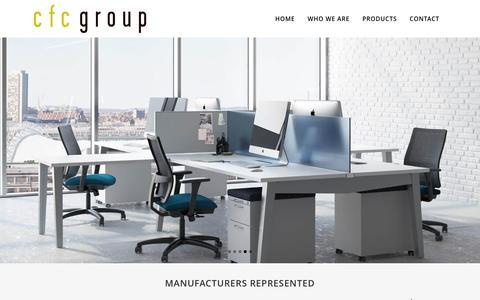 Screenshot of Home Page cfcgroupinc.com - CFC Group | Atlanta Contract Office Furniture Representatives - captured Jan. 22, 2016