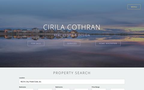 Screenshot of Home Page cirilacothran.com - Swansboro NC Real Estate and Home Construction | - captured Jan. 28, 2016