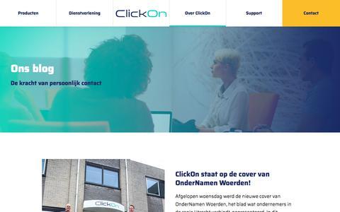 Screenshot of Blog clickon.nl - Blog ClickOn - captured July 19, 2018