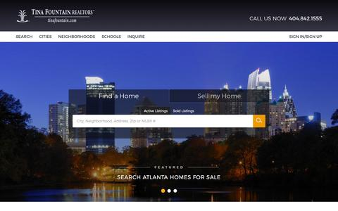 Screenshot of Home Page tinafountain.com - Atlanta Real Estate - Atlanta GA Homes For Sale - Atlanta Georgia Houses For Sale - captured Feb. 7, 2016