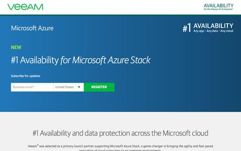 Screenshot of Landing Page veeam.com - Veeam support for Microsoft Azure Stack - captured Sept. 30, 2017