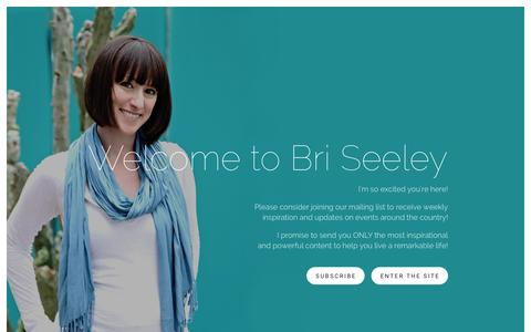 Screenshot of Home Page briseeley.com - Bri Seeley - captured Jan. 7, 2016
