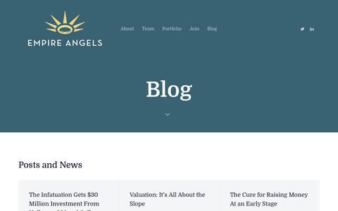 Screenshot of Blog empireangels.com - Blog - Empire Angels - captured Dec. 8, 2018
