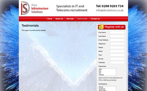 Screenshot of Testimonials Page disolutions.co.uk - Testimonials | Work Logic - captured Oct. 5, 2014