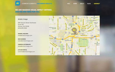 Screenshot of Contact Page artisticimage.com - Artistic Image in Atlanta, GA - Contact Information and Directions - captured Sept. 30, 2014