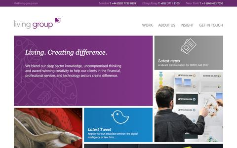 Screenshot of Home Page living-group.com - Home > Living Group - captured May 20, 2017