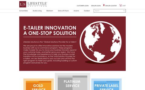 Screenshot of Services Page lifestylesolutions.com - E-commerce solutions - captured Oct. 24, 2018