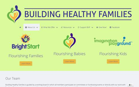 Screenshot of Team Page bhfct.org - Building Healthy Families, Inc. - Team - captured Oct. 7, 2018