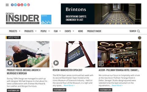 Screenshot of Home Page designinsiderlive.com - Design Insider - captured Oct. 12, 2017