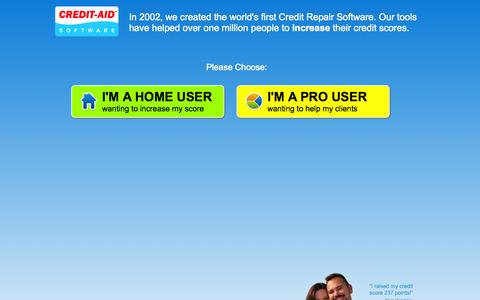 Screenshot of Home Page credit-aid.com - Credit Repair Software from Credit-Aid | Seen on CNN | FREE Demo! - captured Sept. 19, 2014