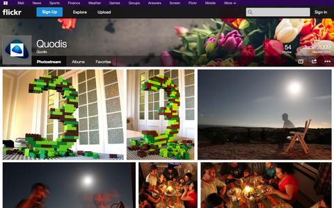 Screenshot of Flickr Page flickr.com - Flickr: Quodis' Photostream - captured Oct. 23, 2014