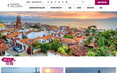 Screenshot of Home Page visitpuertovallarta.com - Puerto Vallarta | Official Tourism Guide - captured Sept. 22, 2018