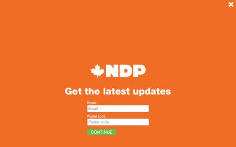 Screenshot of Press Page ndp.ca - New Democratic Party of Canada Â« Canada's NDP - captured Dec. 24, 2016