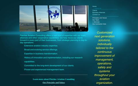 Screenshot of About Page fletcher-aviation-consulting.com - Fletcher Aviation Consulting - + About Us - captured Aug. 3, 2016