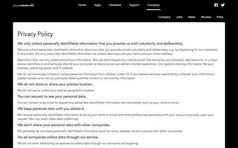 Algoriddim » Privacy Policy » Privacy