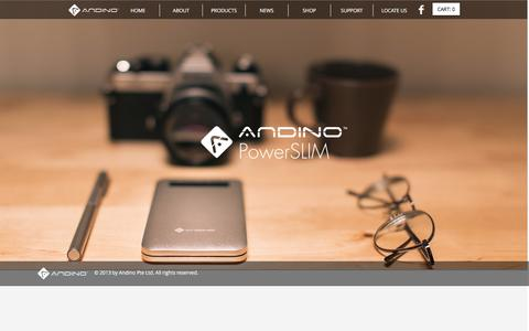 Screenshot of Products Page myandino.com - Andino   PRODUCTS - captured Nov. 20, 2016
