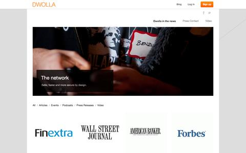 Screenshot of Press Page dwolla.com - Dwolla In The News - captured Dec. 2, 2015