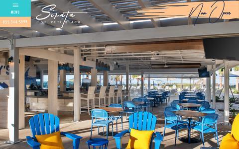 Screenshot of Home Page sirata.com - Beachfront Hotels in St. Pete Beach | Sirata Beach Resort - captured Oct. 20, 2018