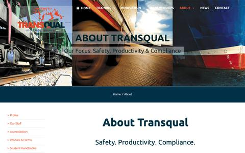 Screenshot of About Page transqual.com.au - About - Transqual - captured Nov. 19, 2018