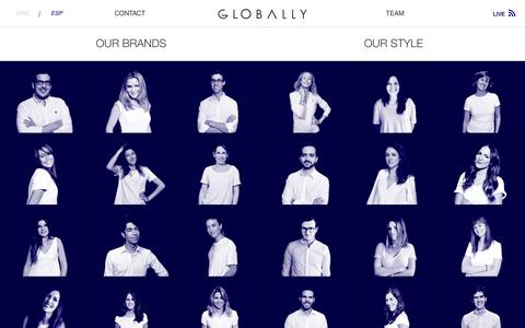 Screenshot of Team Page globally.es - Equipo Globally - captured Sept. 1, 2016