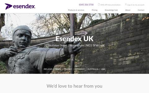 Screenshot of Contact Page esendex.co.uk - Contact Esendex | Esendex - captured Dec. 10, 2015