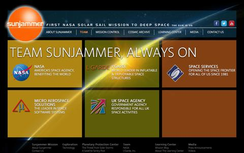 Screenshot of Team Page sunjammermission.com - Sunjammer Mission: Team - captured Oct. 8, 2014