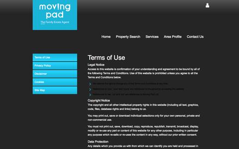 Screenshot of Terms Page movingpad.com - Moving Pad Estate Agents in Barking and Dagenham - Property For Sale and Rent - captured Oct. 7, 2014