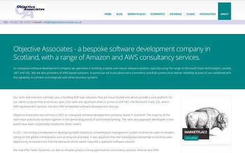 Screenshot of About Page objectiveassociates.co.uk - Bespoke software development Scotland |AWS | ASP.NET | SQL | embedded - captured Oct. 20, 2018