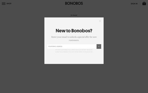 Screenshot of Login Page bonobos.com - Better-Fitting, Better-Looking Men's Clothing & Accessories | Bonobos - captured April 27, 2016