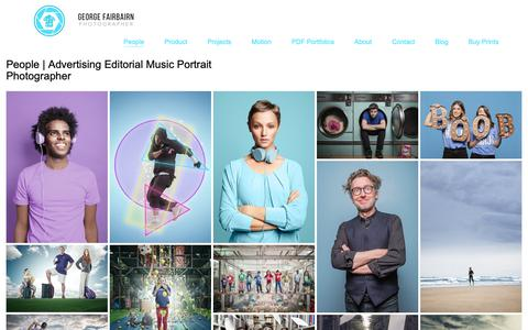 Screenshot of Team Page gfphoto.co.uk - People   Advertising Editorial Music Portrait Photographer   George Fairbairn   Photographer   Advertising   Content   Stop Motion   - captured Sept. 28, 2018
