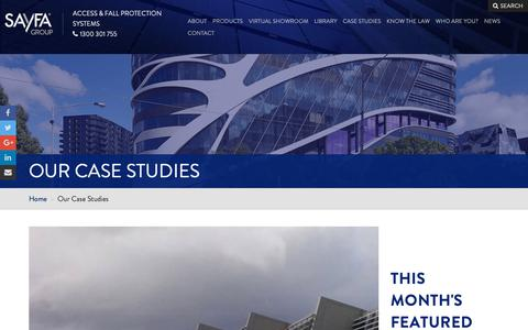 Screenshot of Case Studies Page sayfa.com.au - Sayfa's case studies - designs, products, installs | Sayfa - captured Oct. 2, 2018