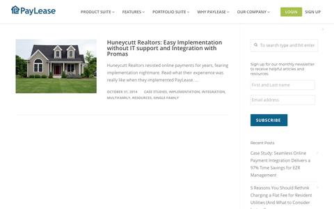 Screenshot of Case Studies Page paylease.com - Single Family | PayLease - captured Aug. 4, 2018