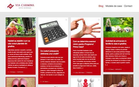 Screenshot of Blog viacarmina.ro - Casa cu gradina de vanzare in cartierul rezidential premium Via Carmina Arad - captured Aug. 12, 2015