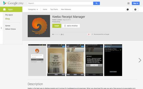 Screenshot of Android App Page google.com - Keebo Receipt Manager - Android Apps on Google Play - captured Oct. 23, 2014