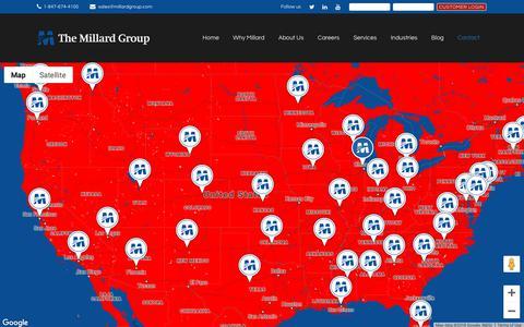 Screenshot of Contact Page millardgroup.com - Contact | The Millard Group - captured Oct. 18, 2018