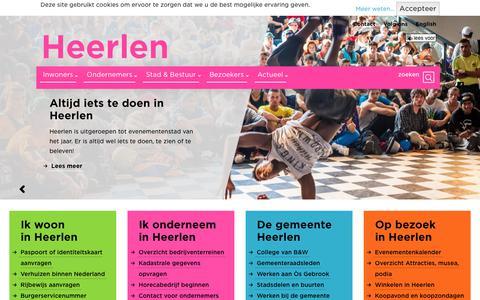 Screenshot of Home Page heerlen.nl - Gemeente Heerlen - captured July 23, 2017