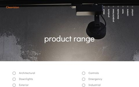Screenshot of Products Page clearvisionlighting.com - Product Range Archive - Clearvision Lighting - captured Oct. 20, 2018